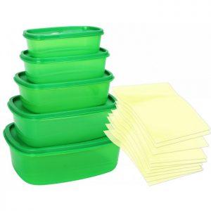 Set 5 caserole Allways Fresh cu capac - recipient depozitare mancare iTeleshop