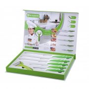 Set 5 cutite si decojitor Bio Green Line - cutite ceramice